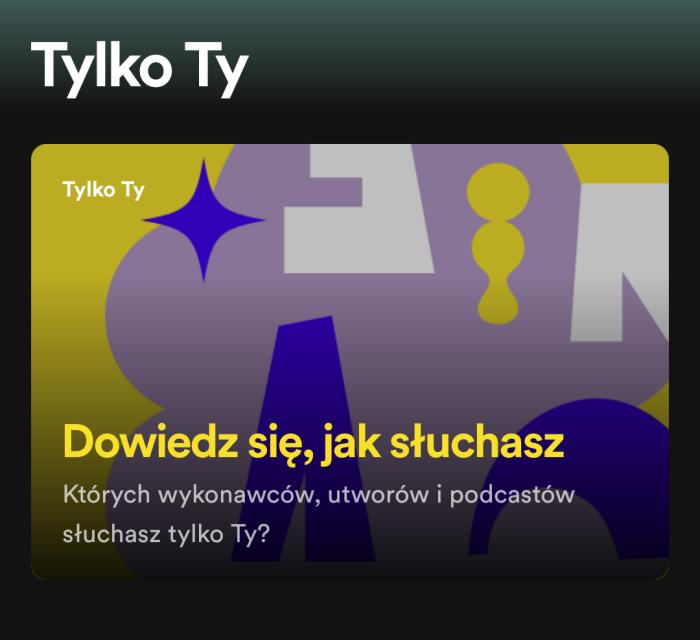 Spotify Tylko Ty dowiedz się jak słuchasz