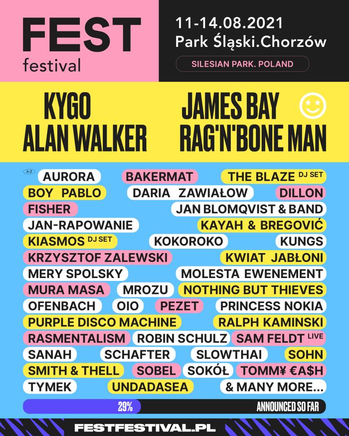 FEST Festival 2021 line-up