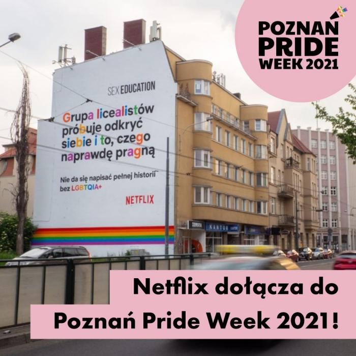 Poznań mural LGBT+ Netflix