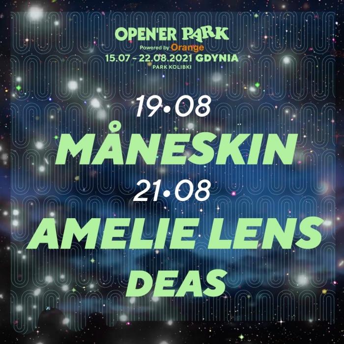 Måneskin i  Amelie Lens na Opne'er Park