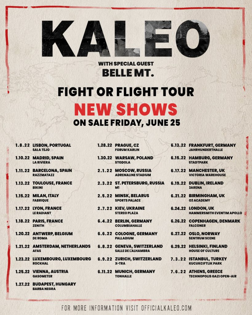 Zespół KALEO pojawi się na koncercie w Polsce!