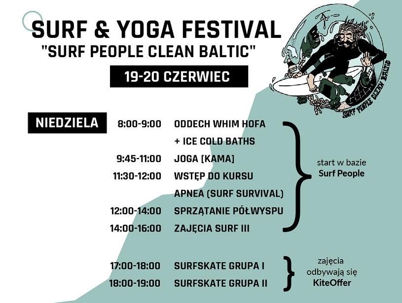 Surf People Clean Baltic - line-up niedziela