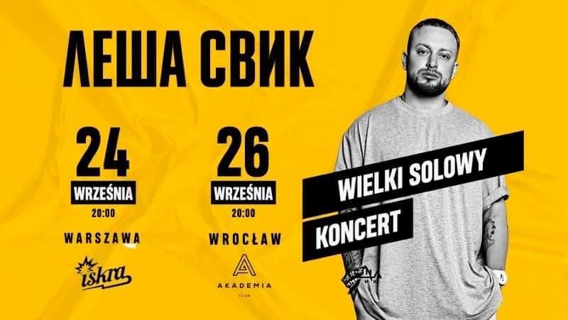 Lesha Svik w Warszawie   Wielki Solowy Koncert