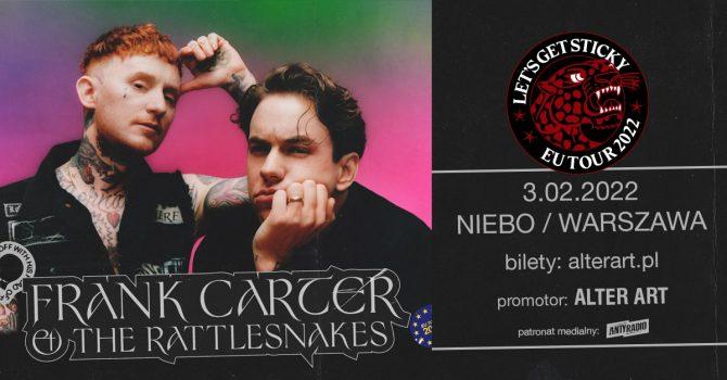 Frank Carter & The Rattlesnakes | 3.02.2022 | Warszawa, Niebo
