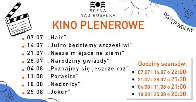 Kino plenerowe nad Rusałką - w środy po zachodzie słońca!