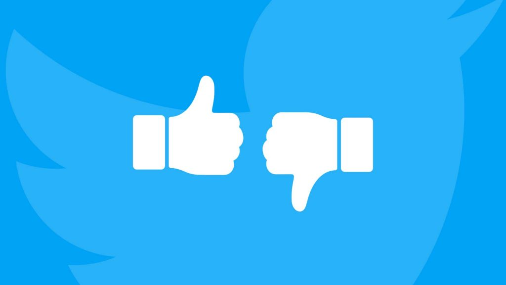 Twitter przycisk dislike