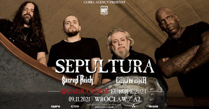 Sepultura + Sacred Reich, Crowbar / 9 XI / Wrocław
