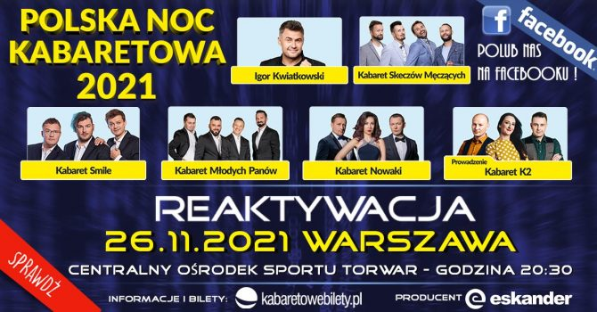 26.11.2021 / Warszawa / Polska Noc Kabaretowa 2021
