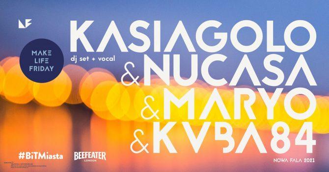 Piątek na Fali: Kasiagolo (dj set + vocal), Nucasa, Maryo, KVBA84