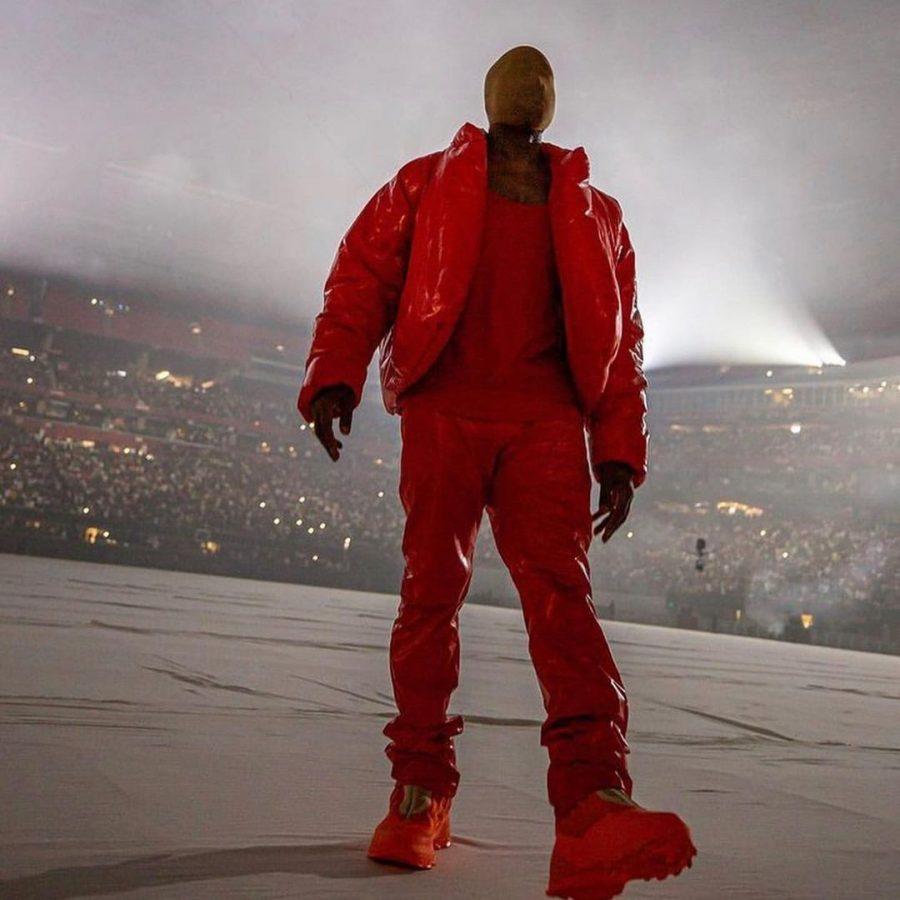 Kanye West podczas listening party albumu DONDA