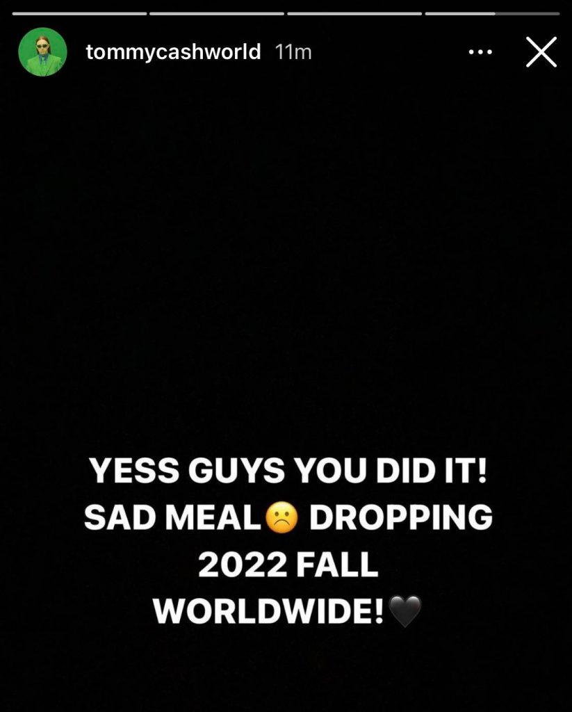 McDonald's sad meal tommy cash