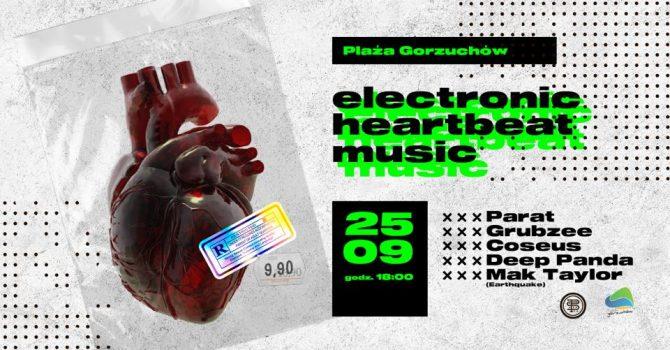 Electronic heartbeat music
