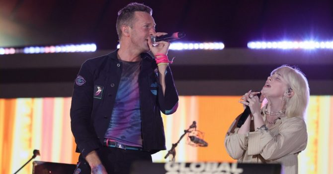 Billie Eilish i Finneas zaśpiewali z Coldplay na scenie festiwalu Global Citizen Live