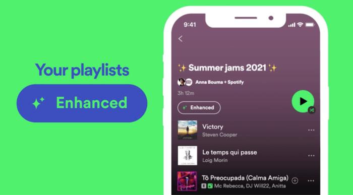 Spotify Enhance nowa funkcja rozszerz playlisty