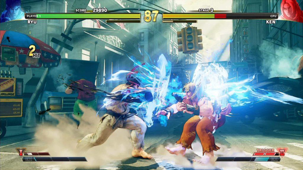 Street Fighter V grafika