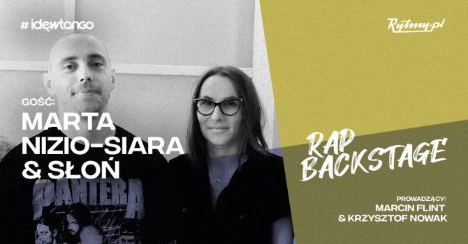 Marta Nizio-Siara i Słoń w nowym odcinku podcastu Rap Backstage