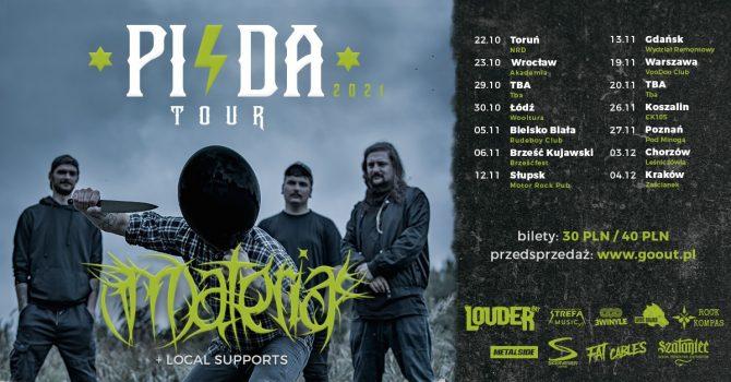 The Materia - PISDA TOUR 2021 + Jack Friday + Scylla - Toruń - Klub NRD