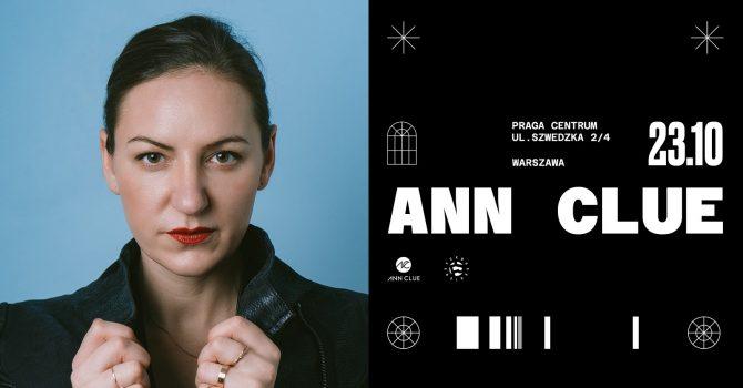 Ann Clue • 23 października • Praga Centrum