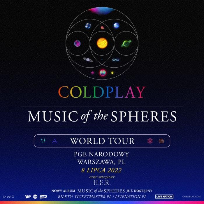 Coldplay koncert w Polsce 2022