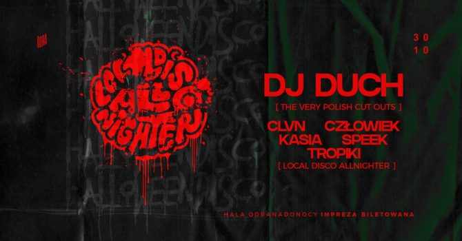 Halloween Disco: DJ Duch x Hala Odra