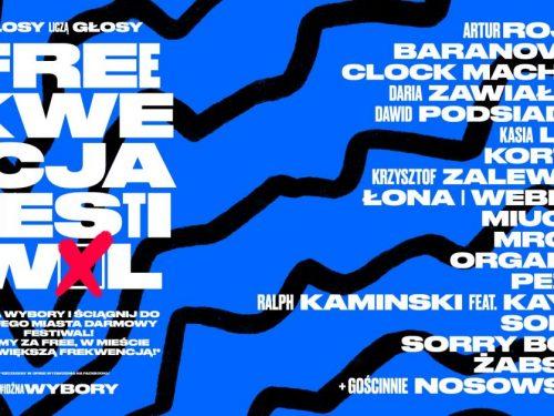 Freekwencja Festiwal powiększa line-up. Artyści zachęcają do głosowania.