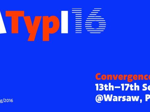 60. Kongres ATypI: typograficzny raj w Warszawie