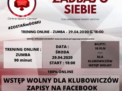 Trening online – ZUMBA – VaganzeOnlineSportCenter