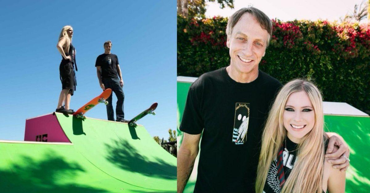 """Avril Lavigne debiutuje na TikToku z nowym klipem do kawałka """"Sk8er boy"""". Wystąpił w nim Tony Hawk"""