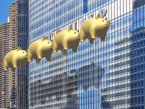 Architekci z Chicago chcą zakryć logo Trump Tower świniami z okładki Pink Floyd