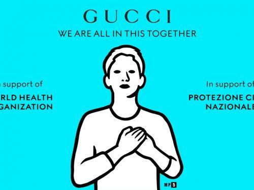 WHO przejęło media społecznościowe Gucci, aby edukować o koronawirusie