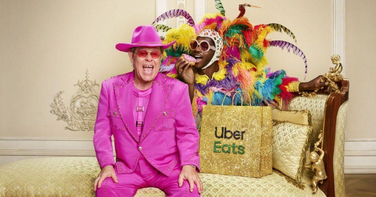 Lil Nas X i Elton John w kampanii Uber Eats. Tak zamawiają ikony