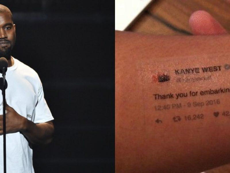 Zrób sobie zmywalny tatuaż z tweetami Kanyego Westa