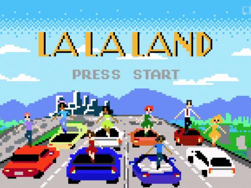 La La Land jako 8-bitowa gra komputerowa RPG