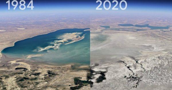 """Nowa funkcja Google Earth. """"Timelapse"""" pokazuje, jak zmieniła się Ziemia w ciągu ostatnich 4 dekad"""
