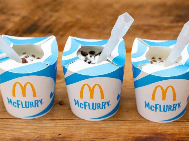 McDonald's rezygnuje z plastikowych słomek i wprowadza nowe kubki do McFlurry